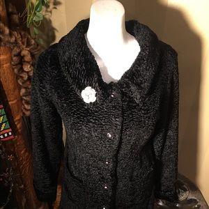 Jackets & Blazers - Gorgeous black old Hollywood style coat